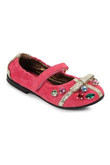 SIMONETTA Jewelled suede pumps 2-5 years