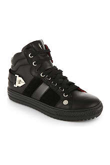 CESARE PACIOTTI Leather high tops 7-12 years