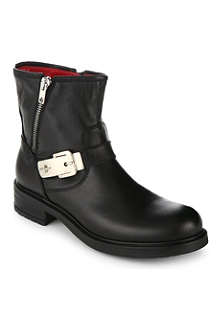CESARE PACIOTTI Metallic-detail leather boots 8-12 years