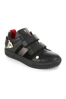 CESARE PACIOTTI Velcro-strap leather trainers 7-12 years