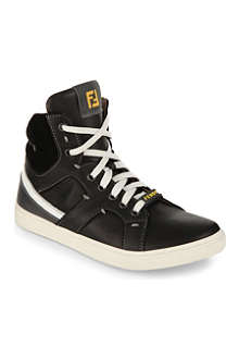 FENDI Leather high-top trainers 5-11 years