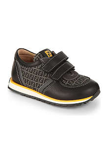 FENDI Branded leather trainers 5-11 years