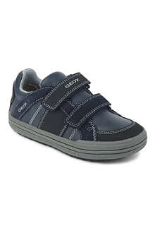 GEOX Double-strap leather trainers 6-9 years