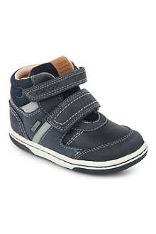 GEOX High-top leather trainers 2-4 years