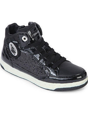 GEOX Lace-up patent leather trainers 5-8 years