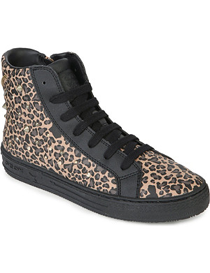 GEOX Leopard print high-top trainers 6-9 years