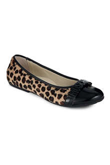 MOSCHINO Faux-ponyskin and patent-leather pumps 7-10 years