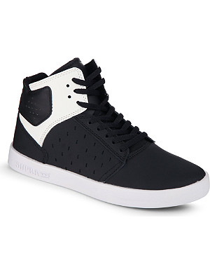 SUPRA High top monochrome trainers