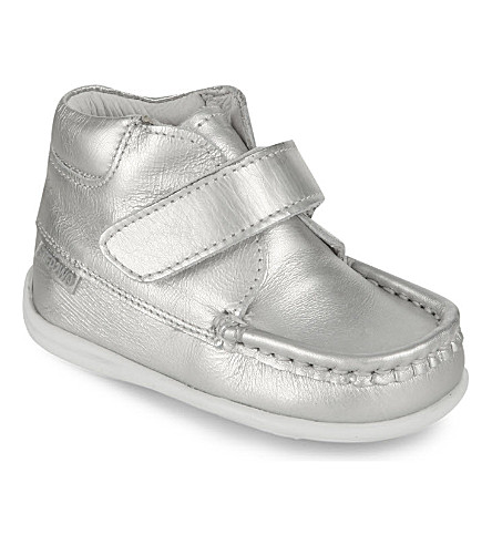 STEP2WO Metallic leather boots 6 mnths-4years (Silver