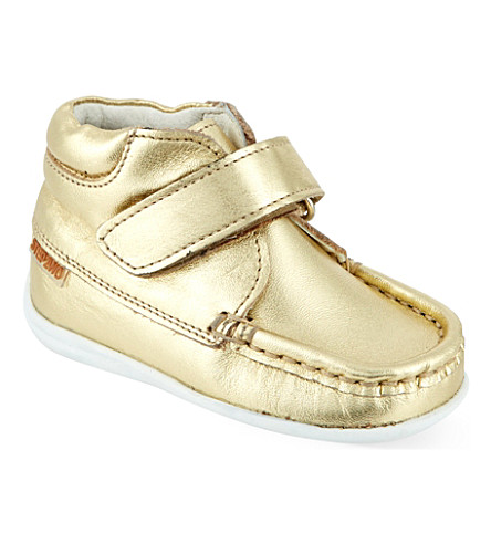 STEP2WO Metallic leather boots (Gold