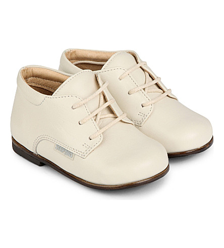 STEP2WO Leather lace-up booties 6 months-3 years (Beige+leather