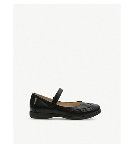 STEP2WO 奥利维亚皮革学校鞋履 6-12 岁(黑色 + 皮革