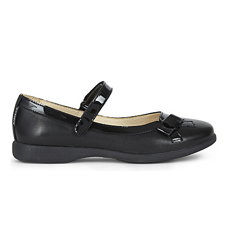 STEP2WO Bernadette bow Mary Janes (Black+leather