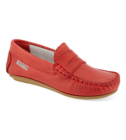 STEP2WO Fabian leather loafers 2-6 years (Red+leather