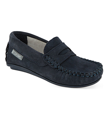 STEP2WO Fabian leather loafers 2-10years (Navy+nubuck
