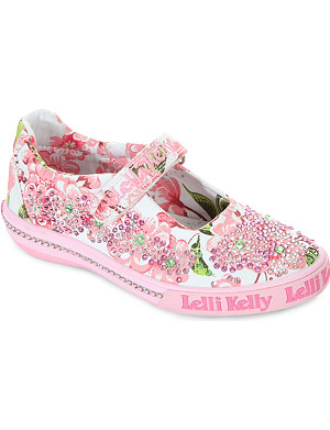 LELLI KELLY Bedjwelled floral pumps 3-9 years