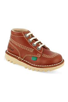 KICKERS Leather boots 1-9 years