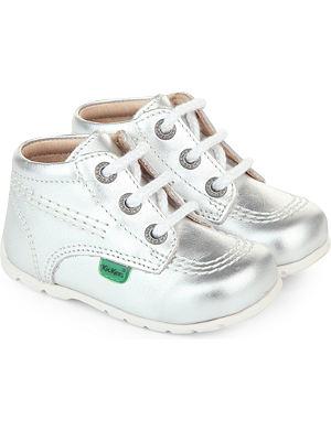 KICKERS Metallic boots 0-1 year
