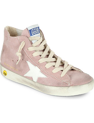 GOLDEN GOOSE Francy suede high-top trainers 6-10 years