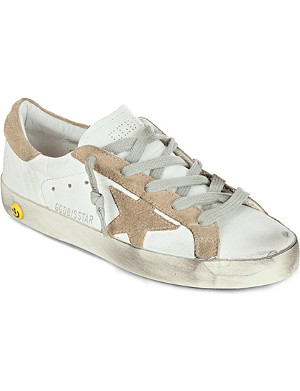 GOLDEN GOOSE Superstar unisex leather trainers 7-10 years