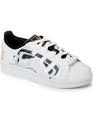 ADIDAS Star Wars Stormtrooper leather trainers 9-10 years