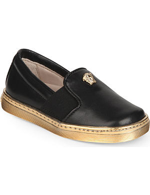VERSACE Leather unisex slip-on shoes 3-8 years