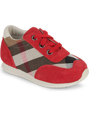 BURBERRY Check trainers 2-5 years