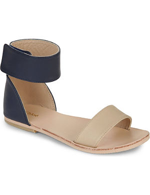 CHLOE Two-tone ankle-wrap sandals 6-9 years