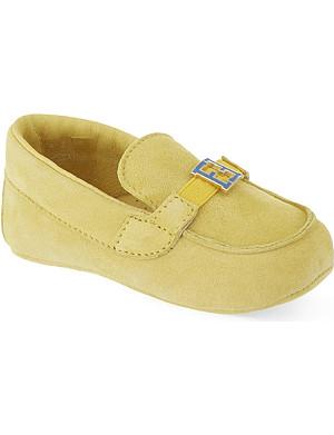 FENDI Suede pram loafers 6 months