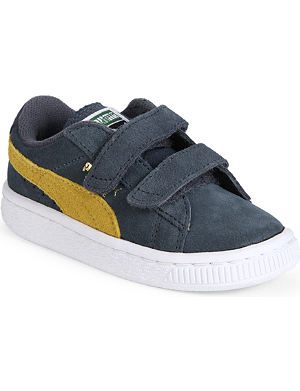 PUMA Unisex velcro suede trainers 2-7 years