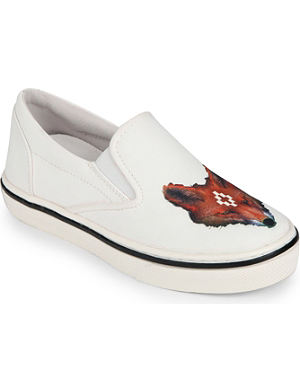 MARCELO BURLON FOOTWEAR Canvas wolf trainers 5-8 years