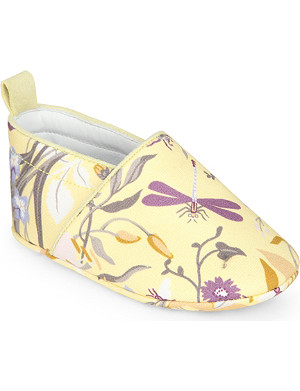 GUCCI Floral print canvas slip-on shoes 6 months