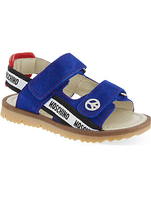 MOSCHINO Suede peace sandals 2-4 years