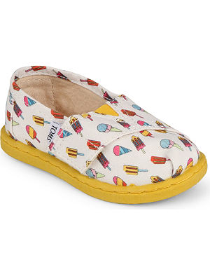 TOMS Ice cream canvas shoes 2-7 years