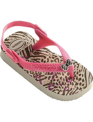 HAVAIANAS Leopard-print flip-flops 6 months-1 year