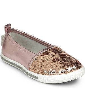 STEP2WO Pupa sequinned leather slip-on pumps 7-11 years