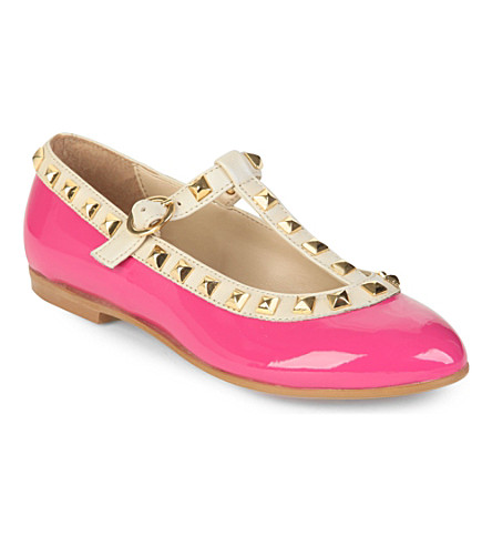 STEP2WO Venetia t-bar shoes 6-11 years (Fuchsia+pat