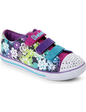 SKECHERS Floral-print embellished trainers 4-8 years