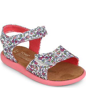 TOMS Floral canvas sandals 2-7 years