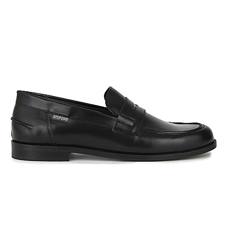 STEP2WO Mocassin leather shoes 7-12 years (Black+leather