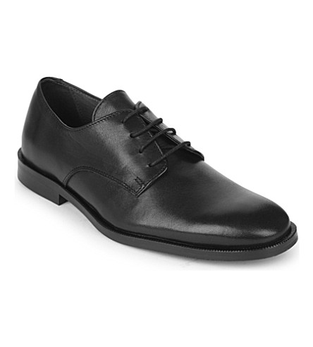 STEP2WO Watson leather lace-up shoes 7-12 years (Black+leather