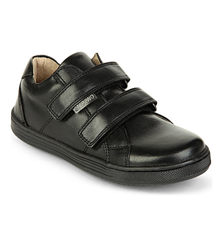 STEP2WO Caller leather velcro shoes 6-9 years (Black+leather