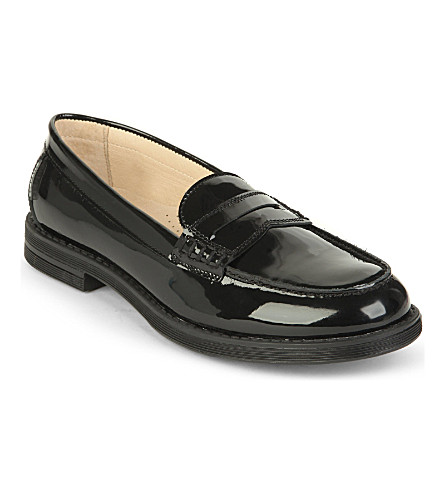 STEP2WO Sandra patent loafer 7-11 years (Black+patent