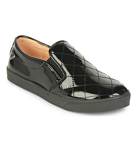 STEP2WO Cavern slip on shoes 7-11 years (Black+patent