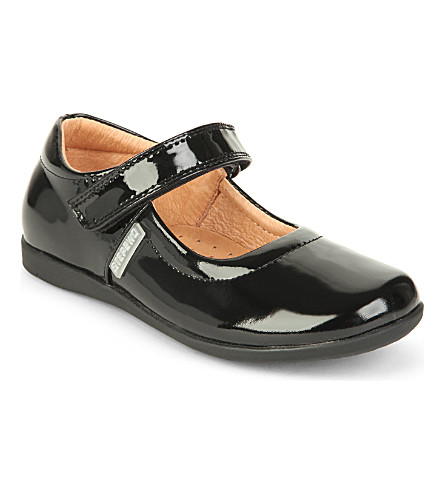 STEP2WO Lynn2 patent hook and eye shoes 4-8 years (Black+patent