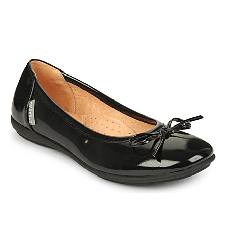 STEP2WO Cilla patent bow pumps 7-11 years (Black+patent