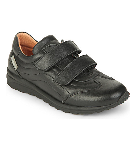 STEP2WO Felton leather trainers 6-12 years (Black+leather
