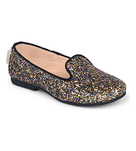 STEP2WO Glitter-covered slip-on pumps 4-8 years (Gold+glitter