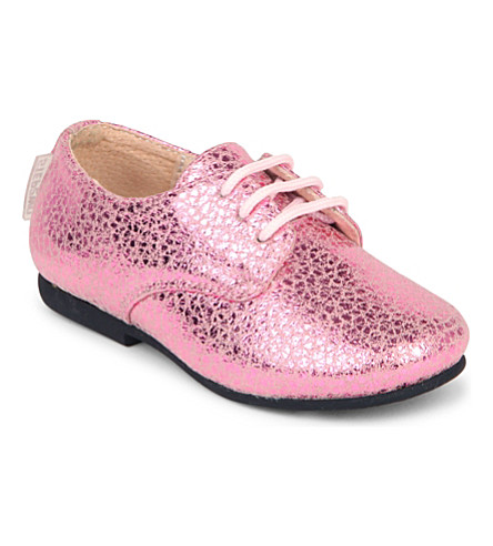STEP2WO Braise metallic-leather shoes 3-6 years (Pink+leather