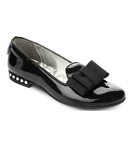 STEP2WO Vonina patent-leather ballerina shoes (Black+patent